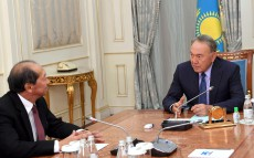 Meeting with Shigeo Katsu, President of Nazarbayev University