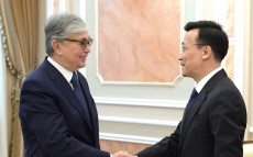 Meeting with Zhang Xiao, Ambassador Extraordinary and Plenipotentiary of the People's Republic of China to Kazakhstan