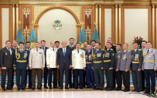 President of Kazakhstan Kassym-Jomart Tokayev takes part in ceremony of awarding highest military and special ranks