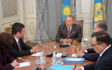Nursultan Nazarbayev meets with Jan Hamáček, the Chamber of Deputies' Chairman of the Czech Republic Parliament