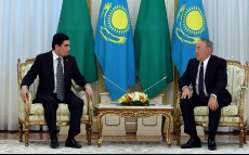 Meeting with Gurbanguly Berdymuhamedov, President of Turkmenistan, who arrived in Kazakhstan on a state visit